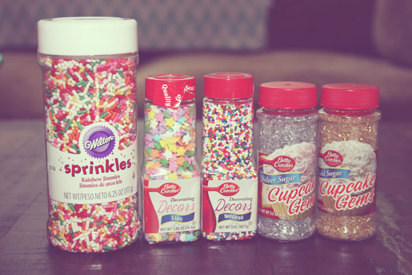 obsessed with sprinkles. (all from kroger & target)