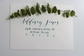 Dipped ink in teal